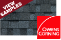 Owens Corning roofing color samples